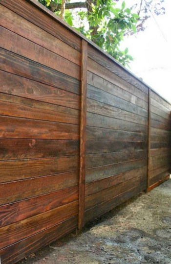 The best fence wooden design that you can try in your home 16