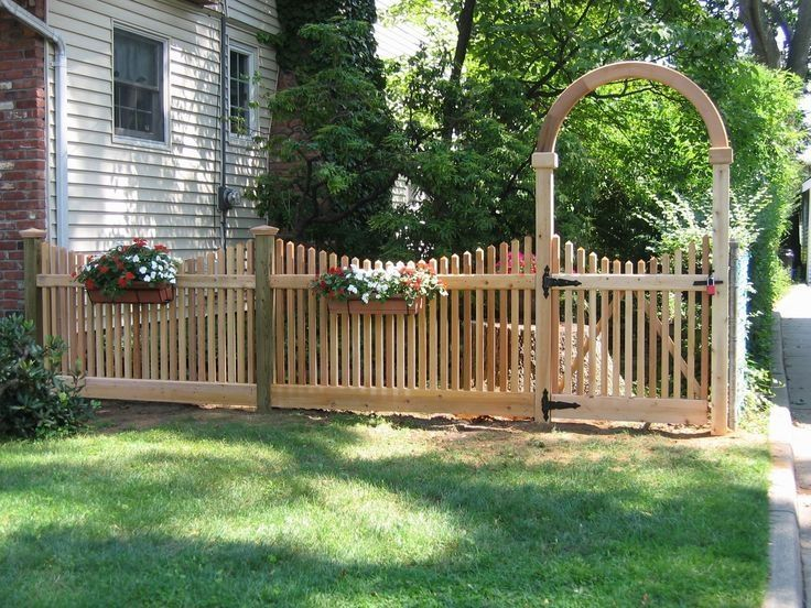 The best fence wooden design that you can try in your home 38