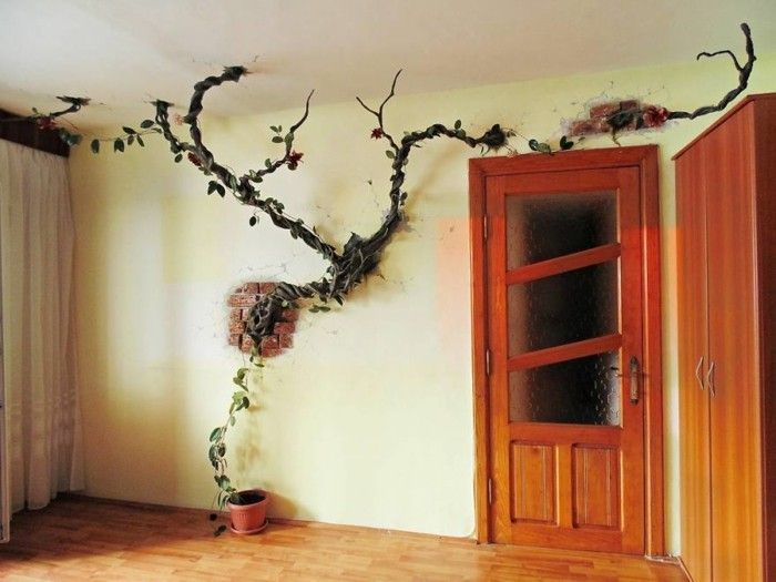 Amazing artistic wall design ideas for simple your home 26
