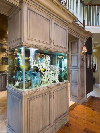 Aquarium design ideas that make your home look beauty 28