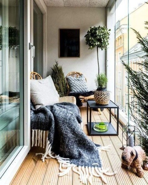 Beauty view design ideas for balcony apartment that make you cozy 01