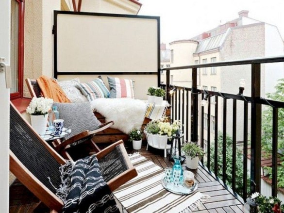 Beauty view design ideas for balcony apartment that make you cozy 03