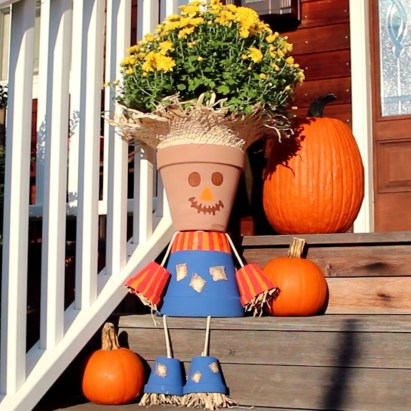 Flower pot decoration ideas that you can try in your home 22