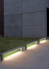 Front yard exterior design with beautiful garden lights 02