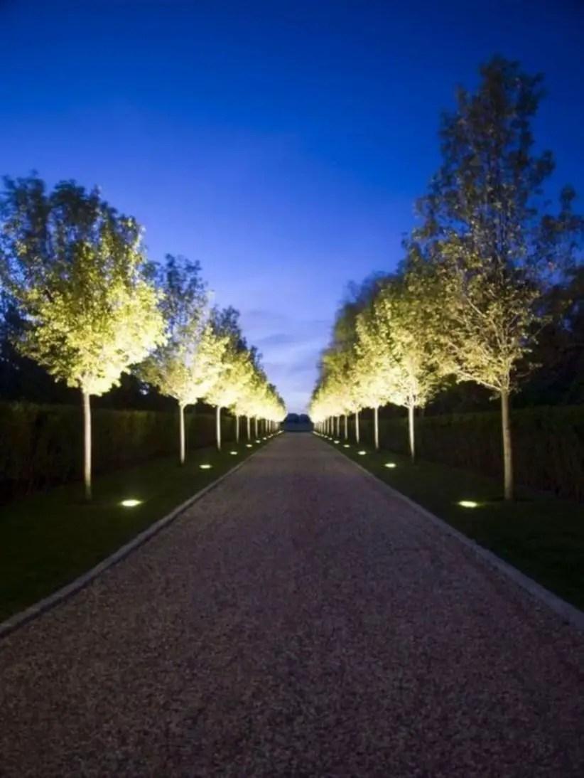 Front yard exterior design with beautiful garden lights 14