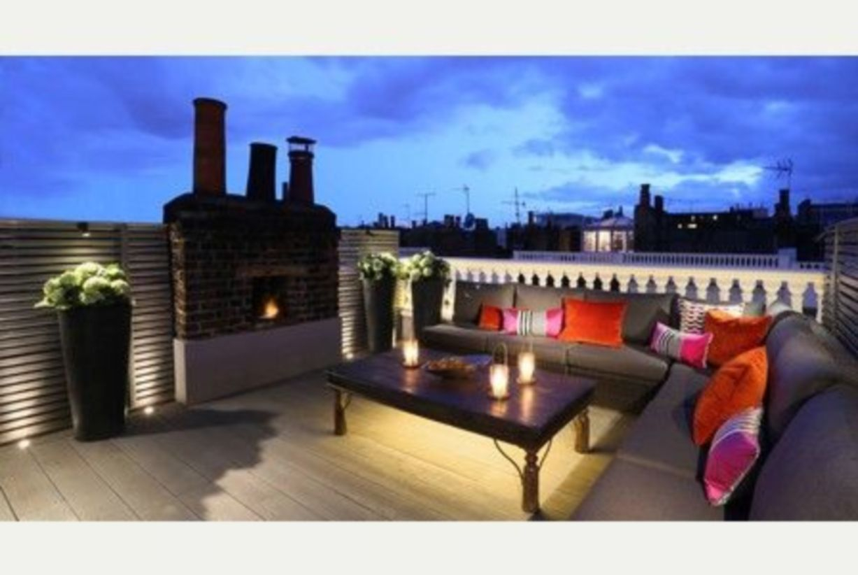 Front yard exterior design with beautiful garden lights 26