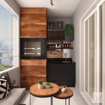 The best mini bar design ideas in balcony apartment 09
