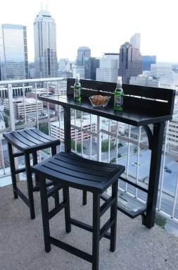 The best mini bar design ideas in balcony apartment 27