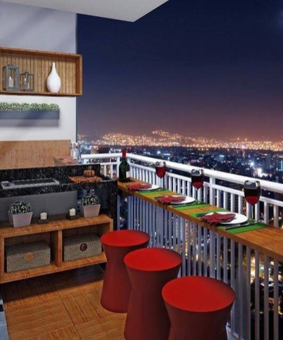 The best mini bar design ideas in balcony apartment 41