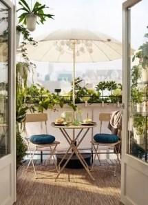 The best mini bar design ideas in balcony apartment 45