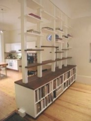 Wooden cabinet design ideas for book diy that you can make in your home 19