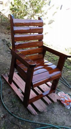 Diy chair pallet design ideas taht you can try 51