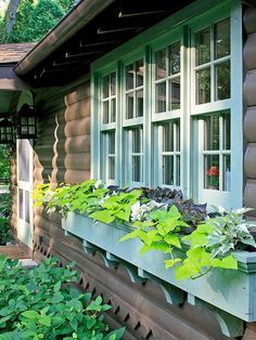 Exterior decoration ideas with flower in window 06