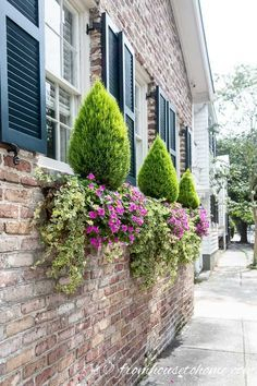 Exterior decoration ideas with flower in window 16