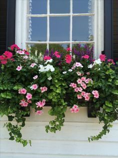 Exterior decoration ideas with flower in window 27