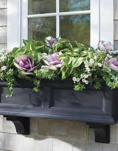 Exterior decoration ideas with flower in window 28