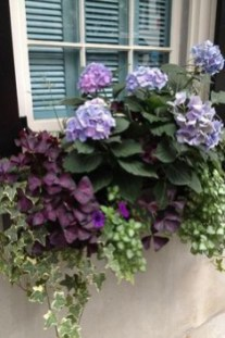 Exterior decoration ideas with flower in window 29