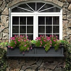 Exterior decoration ideas with flower in window 52