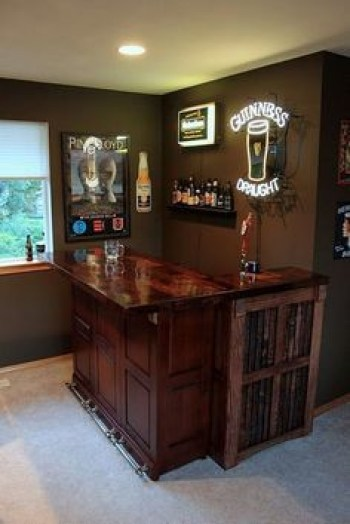 Inspiring pallet mini bar design ideas 16