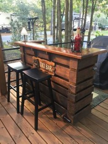 Inspiring pallet mini bar design ideas 20