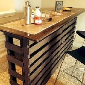 Inspiring pallet mini bar design ideas 22