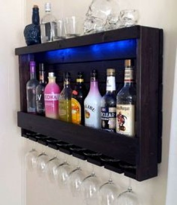 Inspiring pallet mini bar design ideas 39
