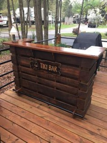 Inspiring pallet mini bar design ideas 45