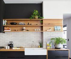 Wood kitchenset design ideas that you can try 40