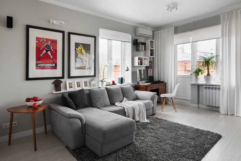 Living room gray wall color design ideas 01