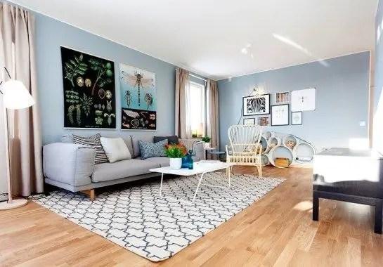Living room gray wall color design ideas 02