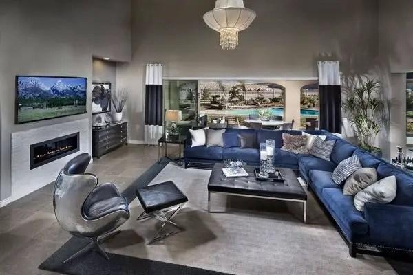 Living room gray wall color design ideas 05