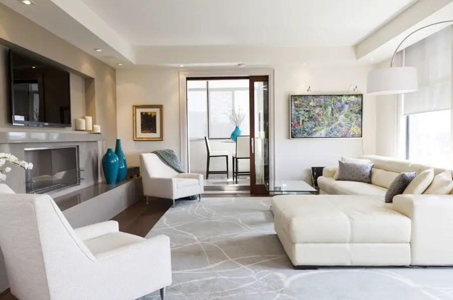 Living room gray wall color design ideas 06