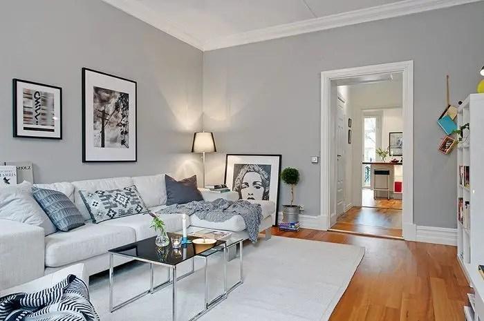 Living room gray wall color design ideas 08