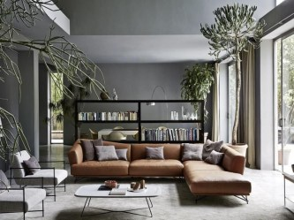 Living room gray wall color design ideas 21