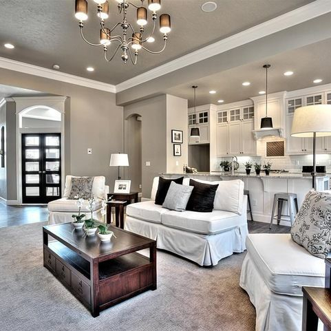 Living room gray wall color design ideas 29