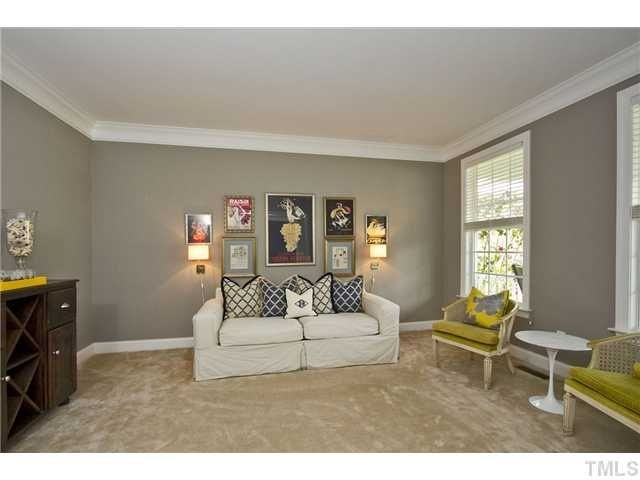 Living room gray wall color design ideas 30