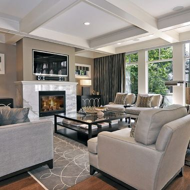 Living room gray wall color design ideas 31