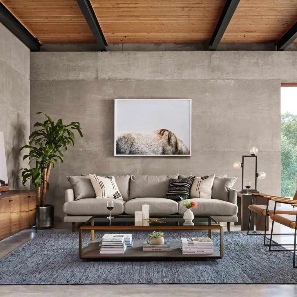 Living room gray wall color design ideas 32