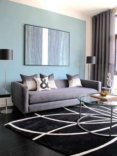 Living room gray wall color design ideas 34