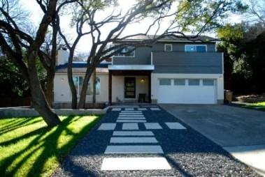 Modern&minimalist frontyard desgin ideas 07