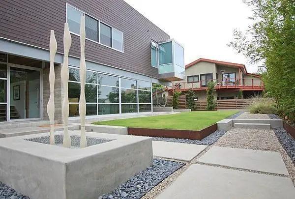 Modern&minimalist frontyard desgin ideas 16