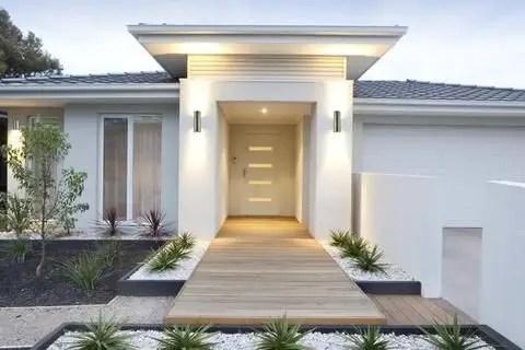 Modern&minimalist frontyard desgin ideas 38