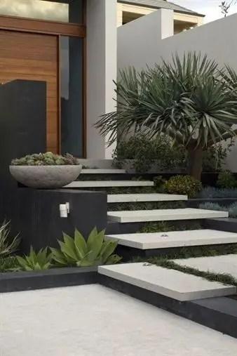 Modern&minimalist frontyard desgin ideas 40