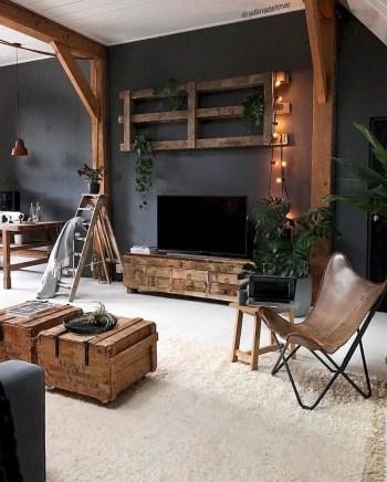 Inspiring living room wall design ideas 23