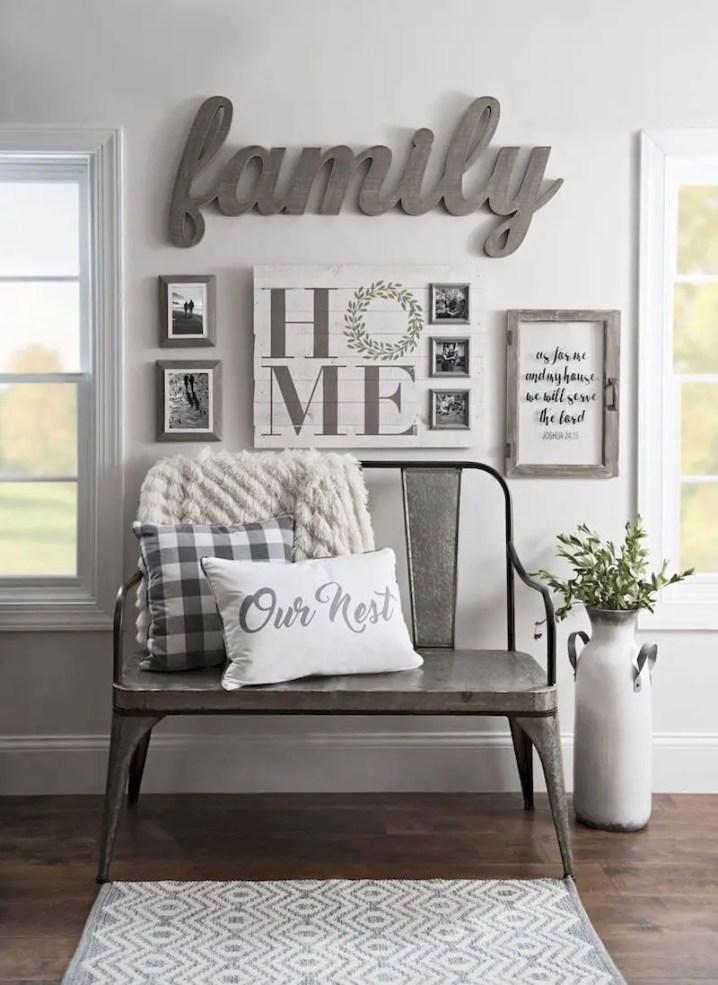 Inspiring living room wall design ideas 28