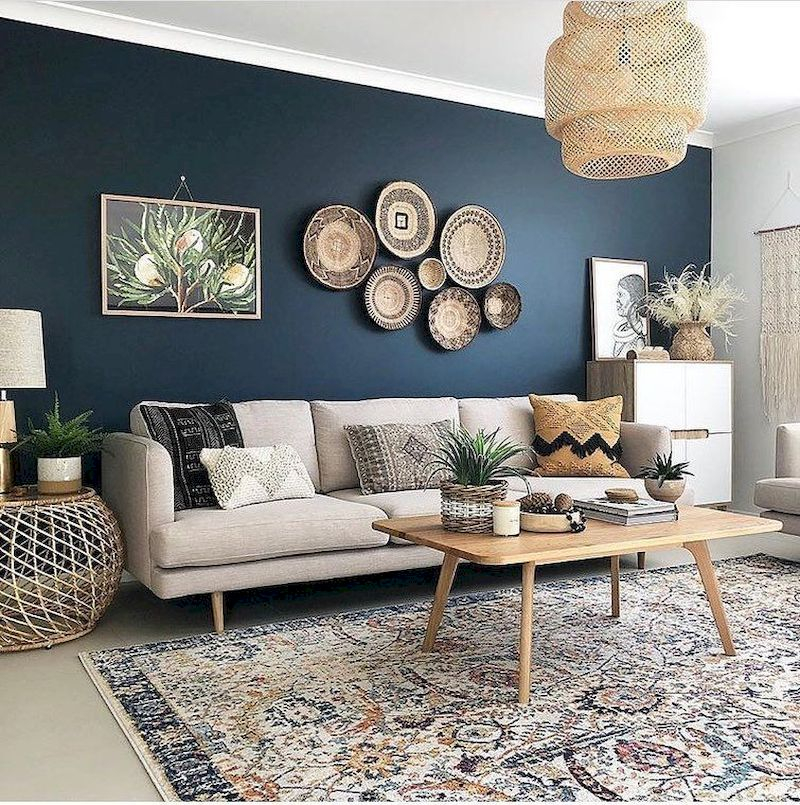 Inspiring living room wall design ideas 43