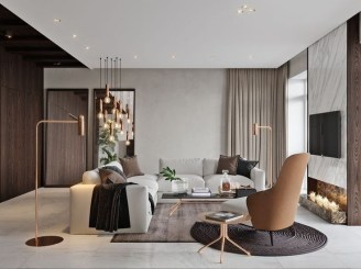 Livingroom design ideas to make look confortable for guest 13