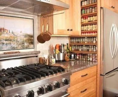 The best kitchen appliance storage rack design ideas 03