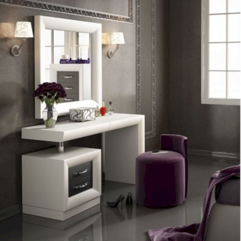 The best makeup table design ideas that you must copy right now 02