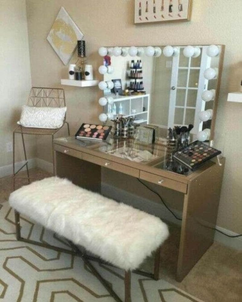 The best makeup table design ideas that you must copy right now 16